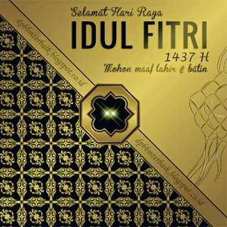 DP BBM Selamat Hari Raya Idul Fitri 1437 H terbaru terbaik
