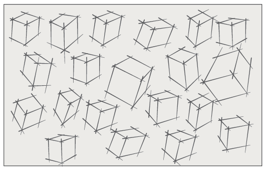 Fill the sketchbook page with as many boxes as will fit on the page.