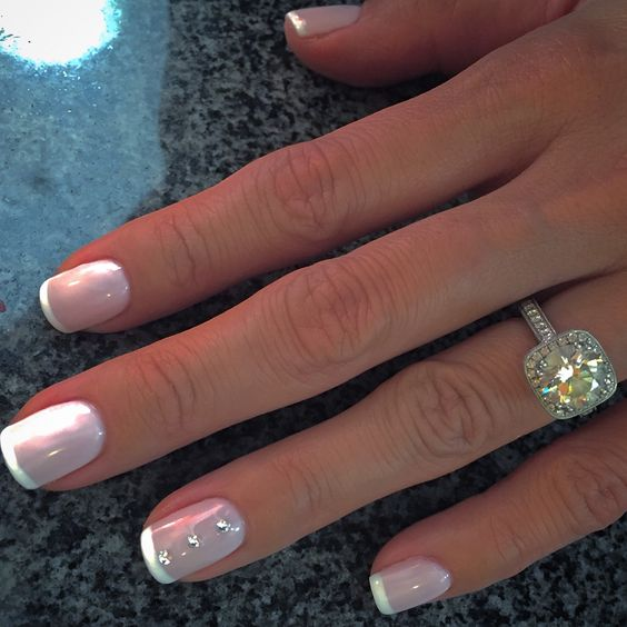 Gorgeous Formal Nails With French Tips