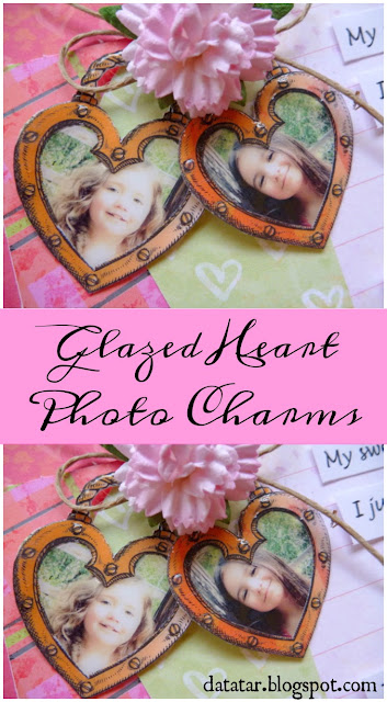 DIY Glazed Heart Photo Charm Tutorial by Dana Tatar