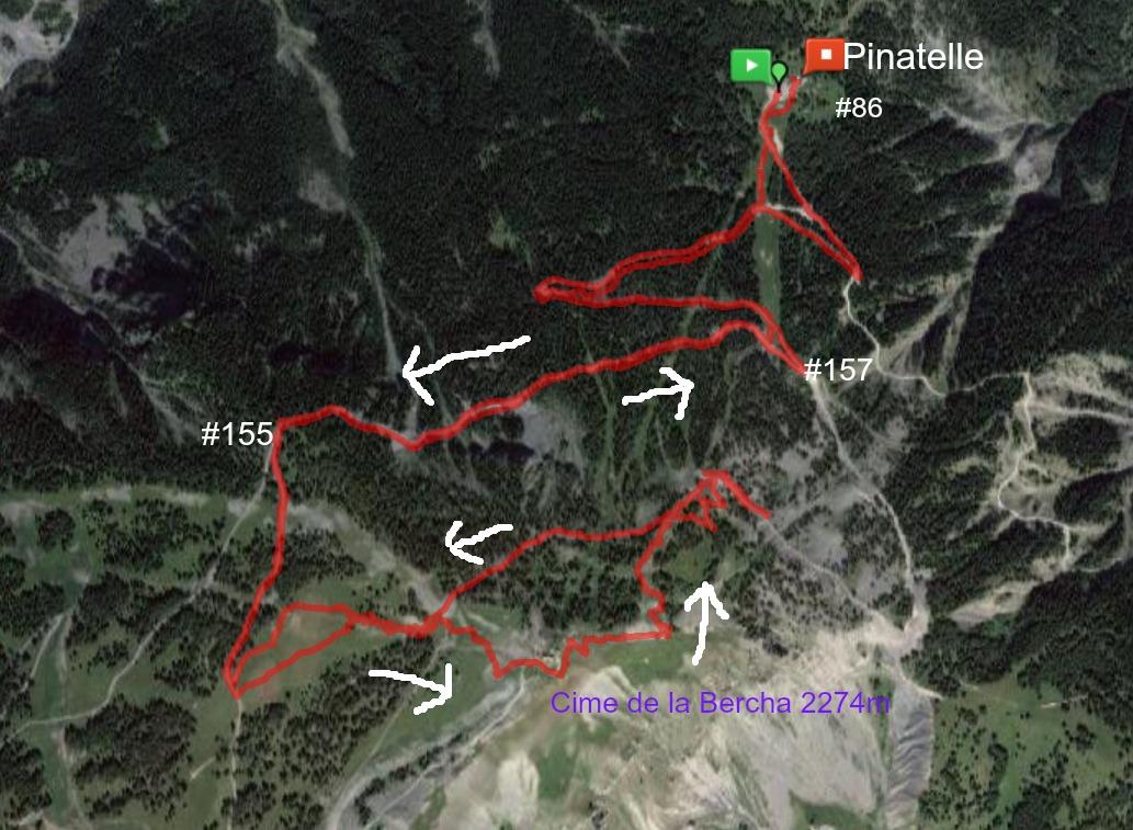 Cime de la Bercha trail