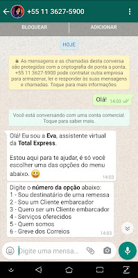 WhatsApp - Total Express