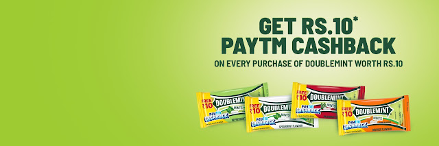 PayTM Doublemint Offer - Free me paye 10 Rupees payTM cash