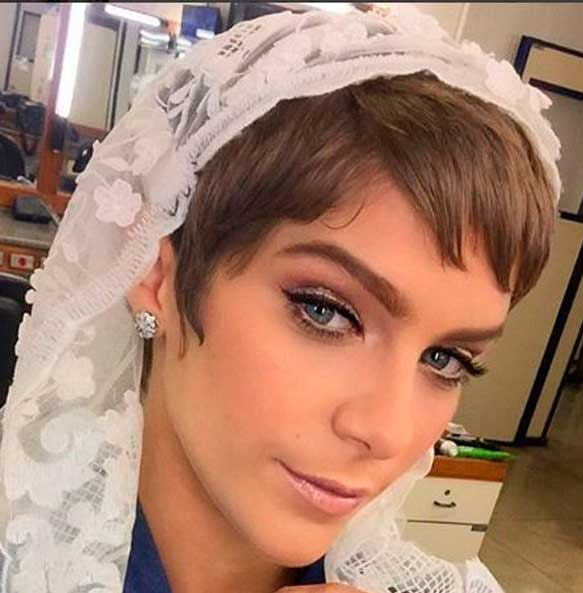 Maquiagem  Leticia Lei do amor, noiva