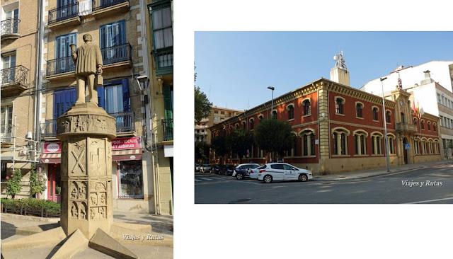 Auroro y ayuntamiento de Estella-Lizarra