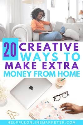 Surveys and being an independent sales rep aren't the only ways to make extra money from home. There are many ways to make money online in 2020. In my blog post I list the easiest and best ways to make extra money from home. #sidehustles #ecommerce #passiveincome #creativebusiness