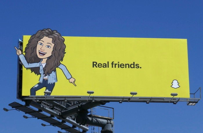 Josh Rebecca Real Friends Snapchat billboard