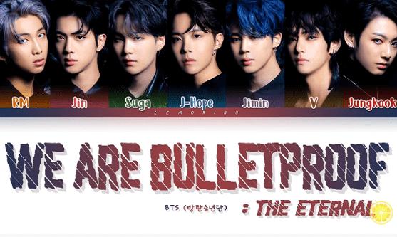 lirik We Are Bulletproof: The Eternal terjemahan BTS