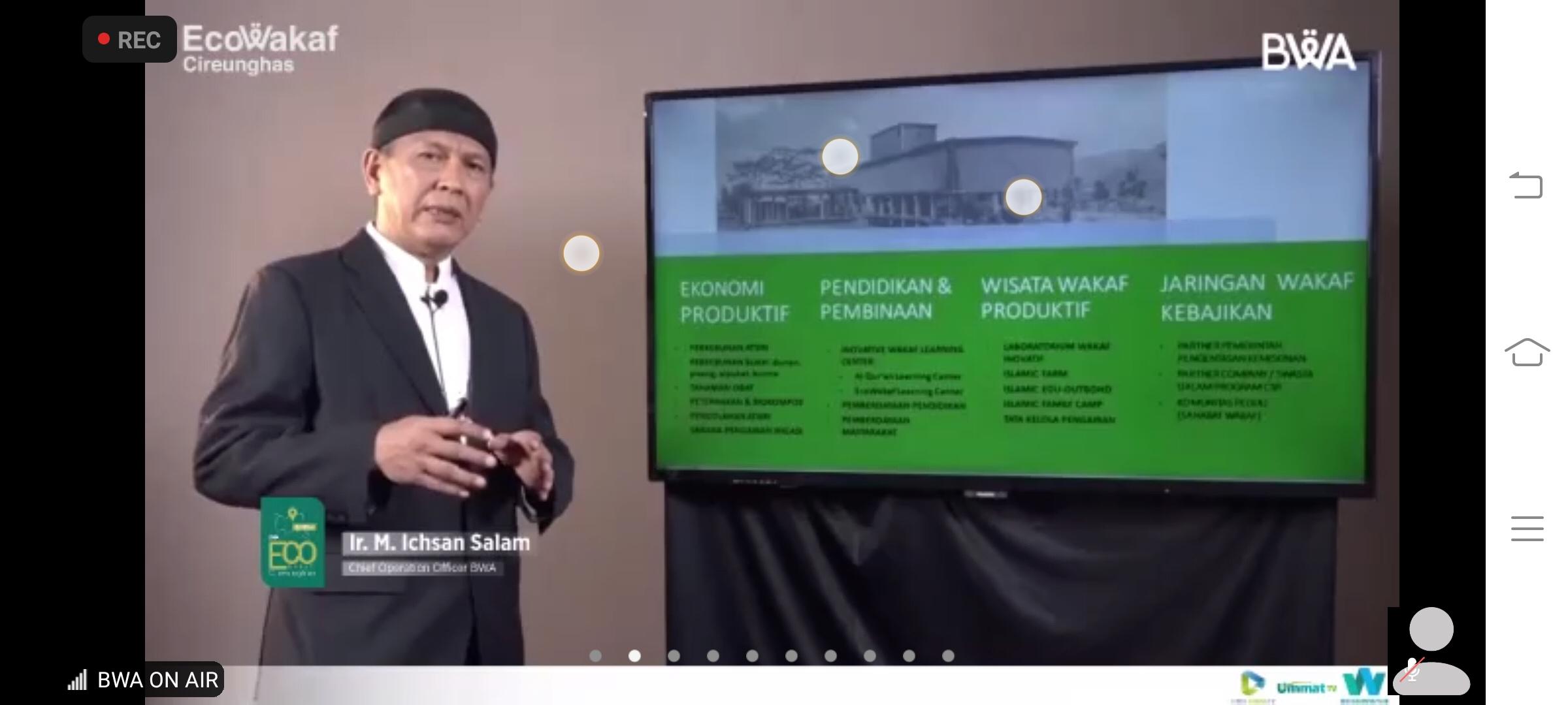 Wakaf Produktif Ecowakaf Cireunghas Untuk Pendidikan Anak Indonesia