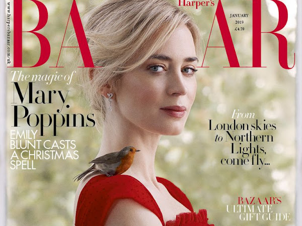 Emily Blunt Covers Harper's Bazaar // January 2019