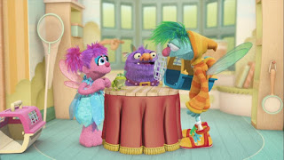Gonnigan Blögg Abby Cadabby Niblet, Abby's Flying Fairy School Pet Day, Sesame Street Episode 4304 Baby Bear Comes Clean