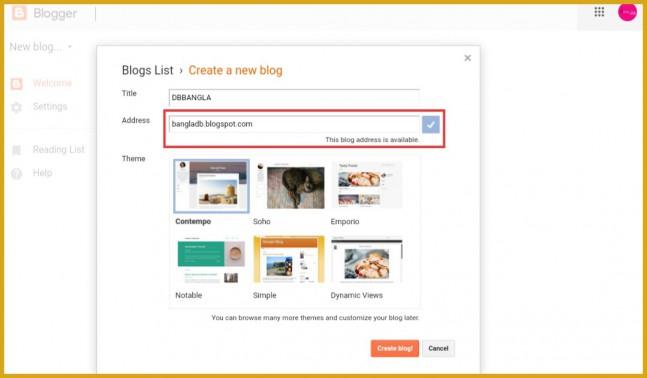 Blogspot-domain