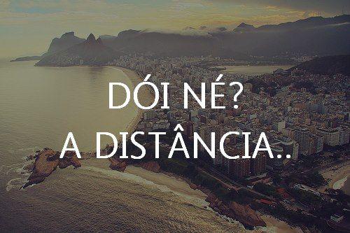 Status de amor a distância