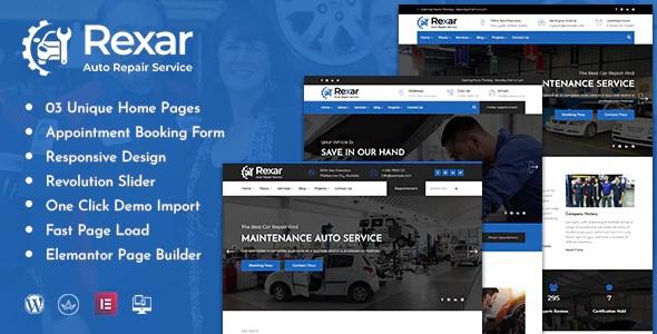 Auto Mechanic WordPress Template