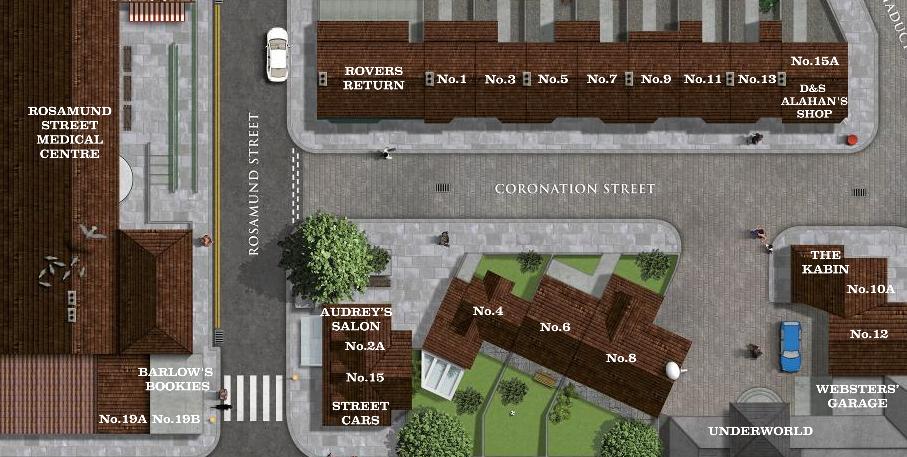 Coronation Street Map Coronation Street Blog: ITV launches interactive Corrie map