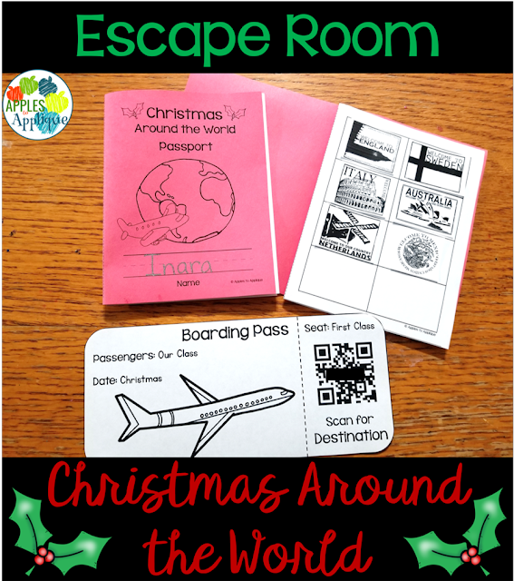 Christmas Around the World Escape Rooms | Apples to Applique