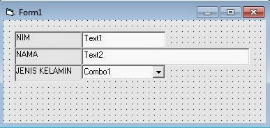 Tutorial Penggunaan ComboBox di Visual Basic 6.0, ComboBox ,  Penggunaan ComboBox