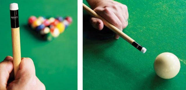 guinness pool cue stickers marketing