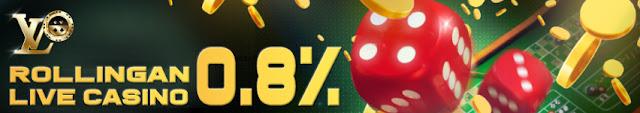 LVOBet - Bonus Rollingan Live Casino 0.8%
