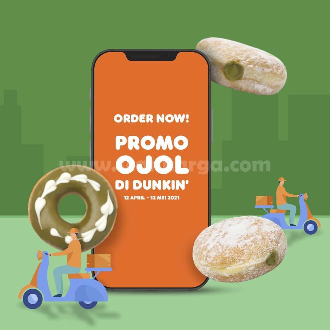 DUNKIN DONUTS Promo OJOL - Beli 12 Donut cuma 87K via GrabFood GoFood & ShopeeFood
