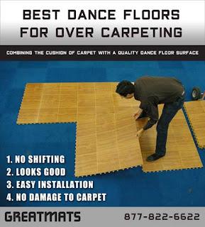 Greatmats Best Dance Floors Over Carpeting infographic