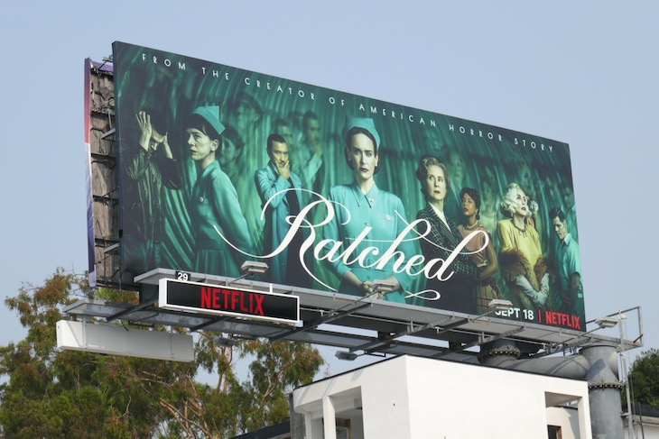Ratched Netflix series billboard