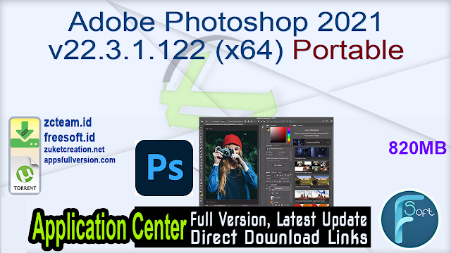 Adobe Photoshop 2021 v22.3.1.122 (x64) Portable_ ZcTeam