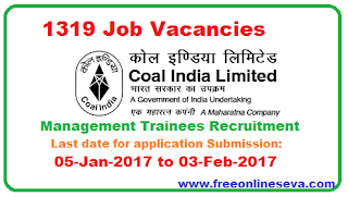 COAL INDIA 1319 Management Trainees Recruitment   logo