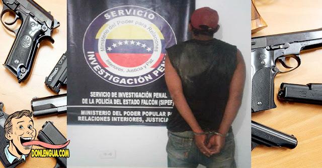 Capturaron a Omar Enrique robando con un arma falsa en Falcón