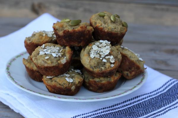 Mini Banana Protein Muffins