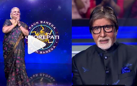 Amitabh Bachchan welcomes Karmaveer by touching his feet for the last time on KBC 11 stage