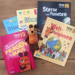 Sachbuch-Reihe Frag doch mal die Maus, Carlsen Verlag, Rezension Kinderbuchblog Familienbücherei