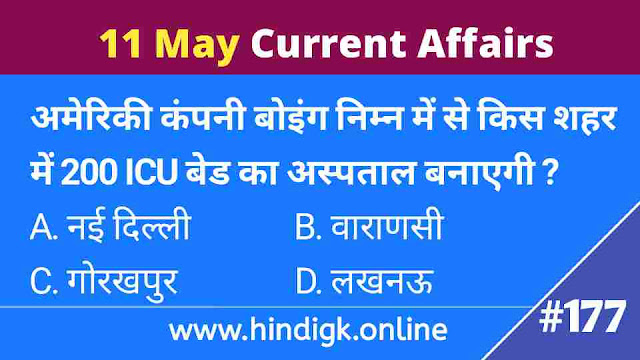 11 May 2021 Current Affairs In Hindi
