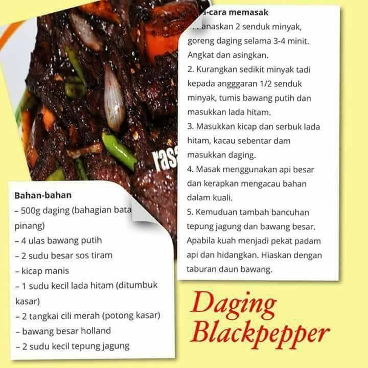 resepi daging blackpepper