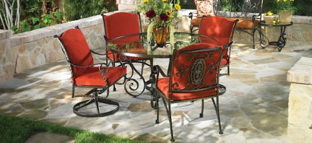 outdoor cast iron patio furniture sets on sale