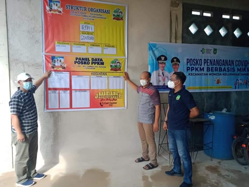 Sebanyak 290 Posko PPKM Skala Mikro di Kecamatan Nongsa Terbentuk