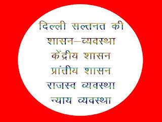 Delhi saltanat kee shaasan vyavastha