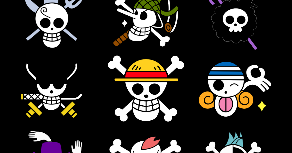 One PieCe PicTuRe : StraW HatS CreW JollY RoGerS Official One Piece Jolly Rogers