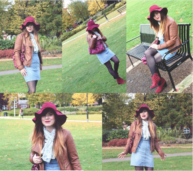 lebellelavie - An autumn outfit with berry and wine colours