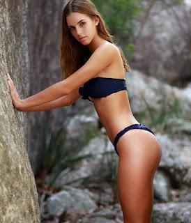 emily feld in black bikini beautiful