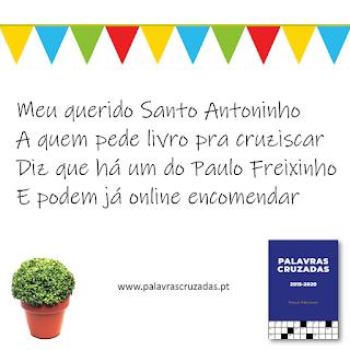 Quadra popular de Santo António - Livro de Palavras Cruzadas de Paulo Freixinho