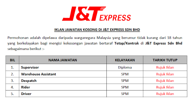 j&t express sdn bhd