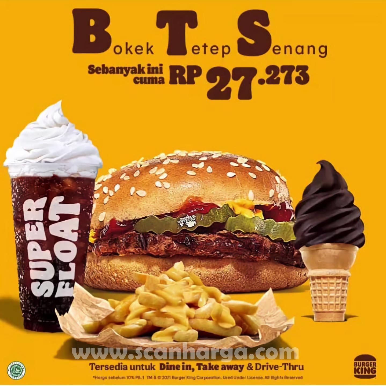 Promo BURGER KING BTS Paket BOKEK Tetap Senang 2