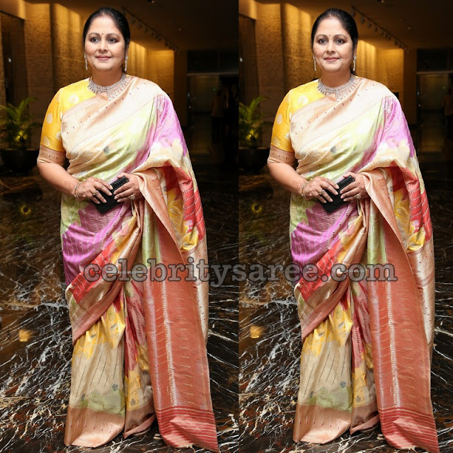 Jayasudha Multi Color Silk Saree
