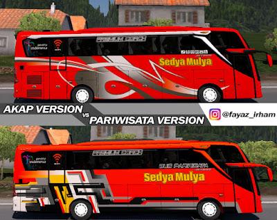 Livery Pack Sedya Mulya for Jetbus 3+ SHD HINO RK8 Adudu Cvt Diny V1 by Fayaz