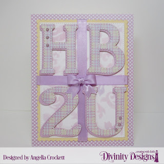 Mixed Media Stencil: Flourishes, Custom Dies: Large Alphabet, Scalloped Rectangles, Pierced Rectangles, Paper Collection: Pastel