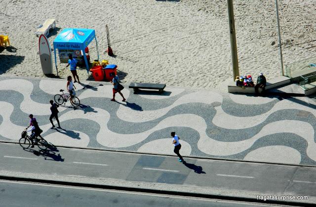 Calçadão da Avenida Atlântica, Copacabana, Rio de Janeiro