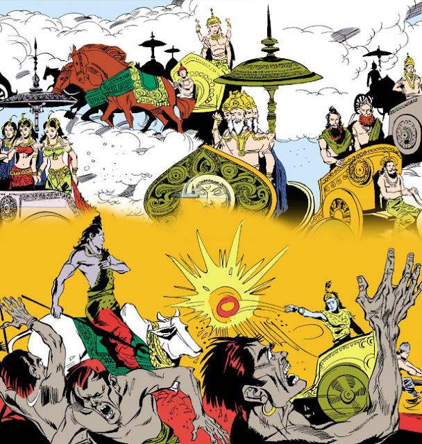 Encounter between Shiva and Krishna