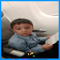 No avião