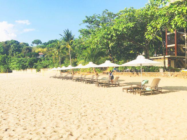 Beach umbrellas at Anvaya Cove